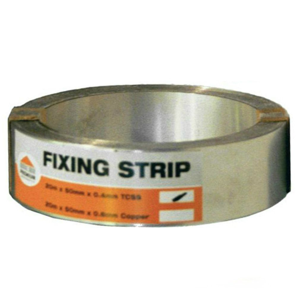Premium Stainless Steel Fixing Strip: 10m x 50mm