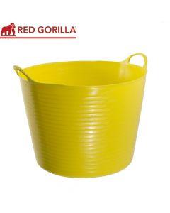 Red Gorilla Large Tub, Yellow: 38ltr