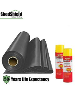 Shed Shield EPDM Rubber Roofing Complete Kit