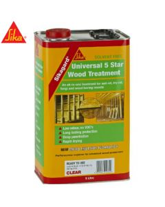 Sikagard Universal 5 Star Wood Treatment, Clear: 5ltr