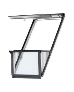 VELUX CABRIO GDL SD0L001 PK19 White-Painted Single Balcony System (94cm x 252cm)