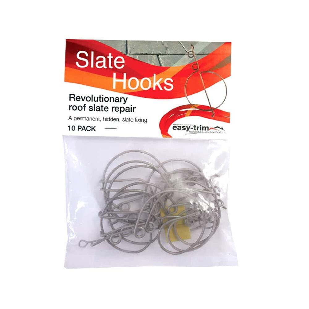 Easy-Trim Slate Repair Hooks: Pack 10