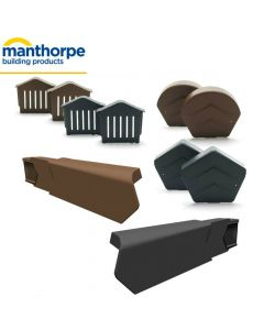 Manthorpe SmartVerge Dry Verge Complete Kit For Tiled Roofs: 1 Gable End