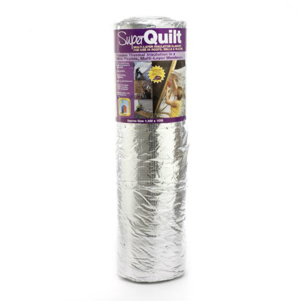 YBS SuperQuilt 19 Multi-Layer Foil Insulation: 10m x 1.2m