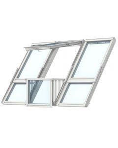 VELUX CABRIO GDL SK0L322 PK19 White-Painted Triple Balcony System (302cm x 252cm)