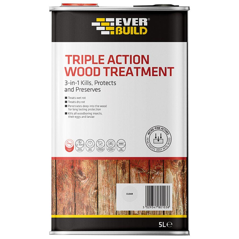 Everbuild Triple Action Wood Treatment: 5ltr
