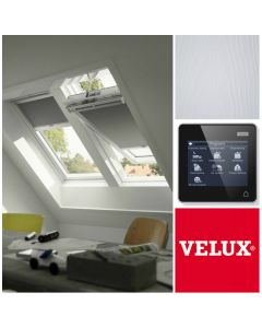 GGL 207021U FK06 VELUX INTEGRA White-Painted Electric Centre-Pivot Roof Window (66cm x 118cm)