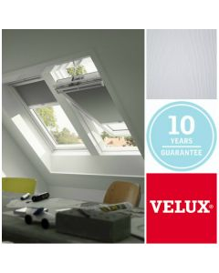 GGL CK02 2070 VELUX White-Painted Centre-Pivot Window: 55cm x 78cm