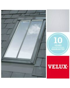 GGL CK04 SD5P2 White-Painted Centre-Pivot VELUX Conservation Rooflight for Plain Tiled Roofs (55cm x 98cm)