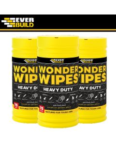 Everbuild Heavy Duty Wonder Wipes: 75