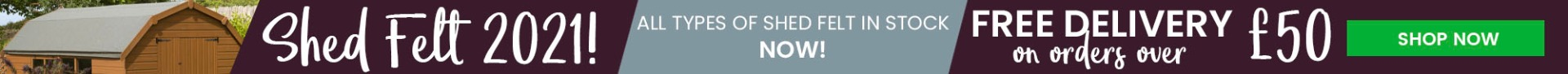 Shed Felt in Stock